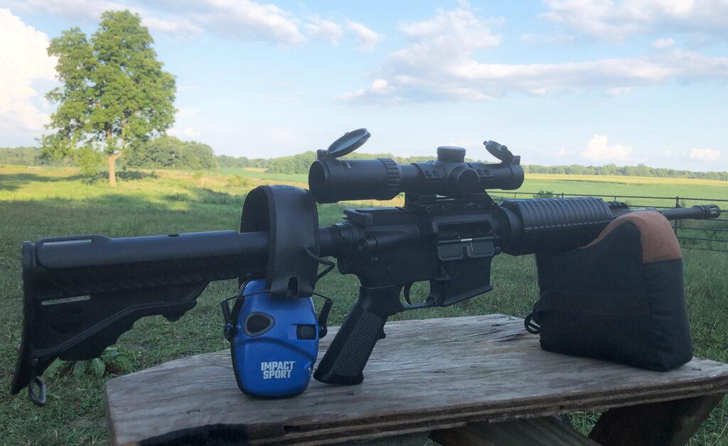 Athlon Argon BTR Gen2 1-8x24 mounted on a DPMS Oracle Carbine